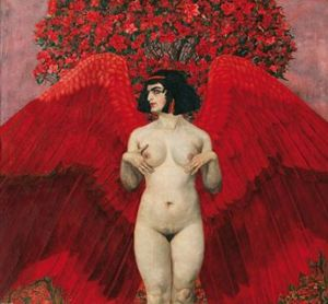 """Roter Engel"" (Red Angel) by Karl Mediz, 1902"