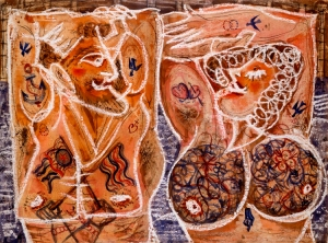 """Tattooed Couple"" by Alfonso Ossorio, 1950"